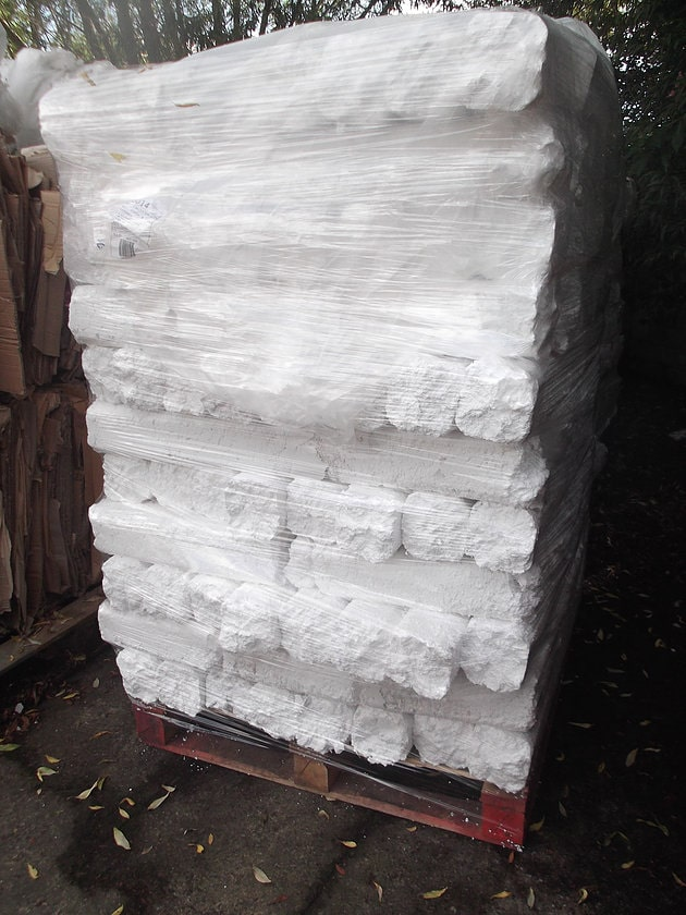 Polystyrene ready for recycling