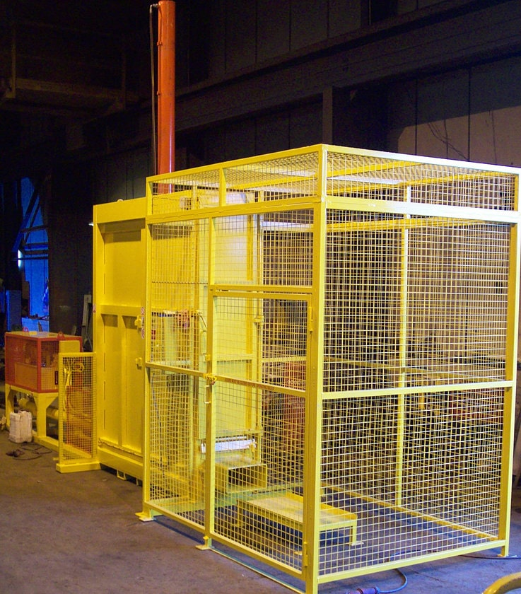 Mattress Baler with cage