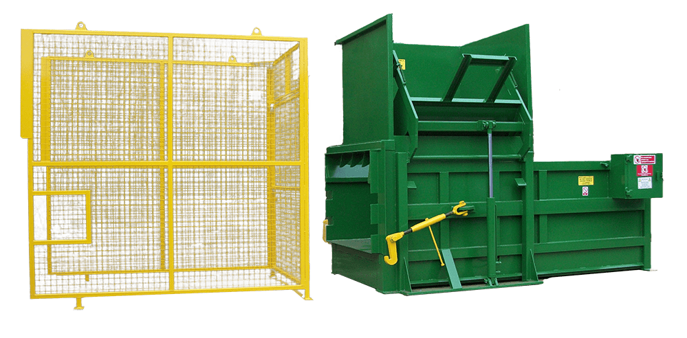Static compactor with Cage