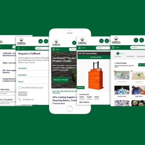 Waste Management Website on Mockup phone
