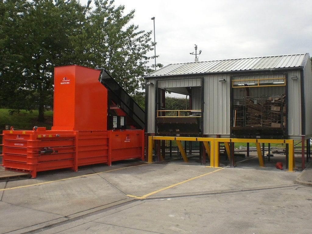 Horizontal Baler with automatic feed