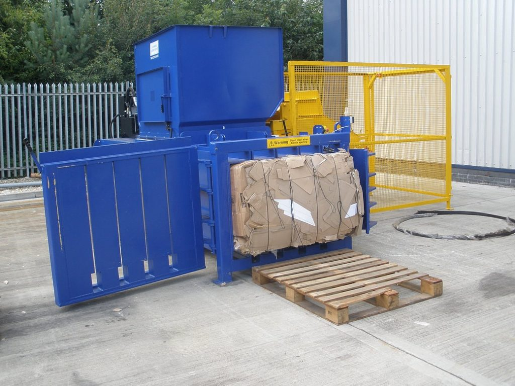 Horizontal Baler with safety cage