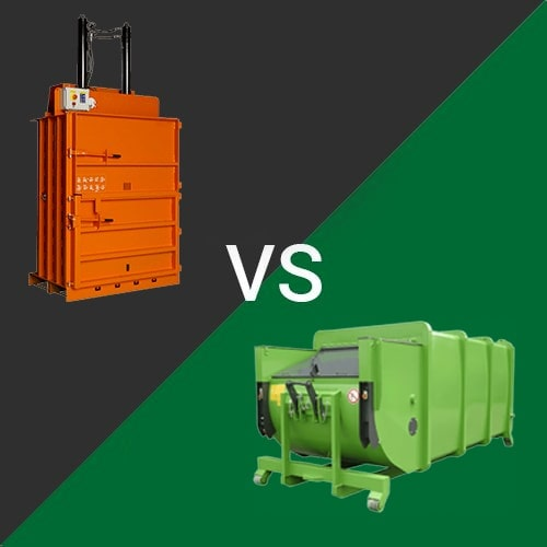 Difference between Waste Compactor and Recycling Baler