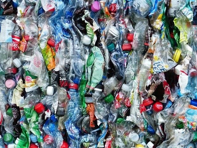 Plastic Bottles in Baler